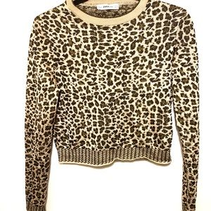 Zara animal print sweater size M